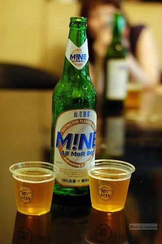 未上市針對女性主打的Mine啤酒。