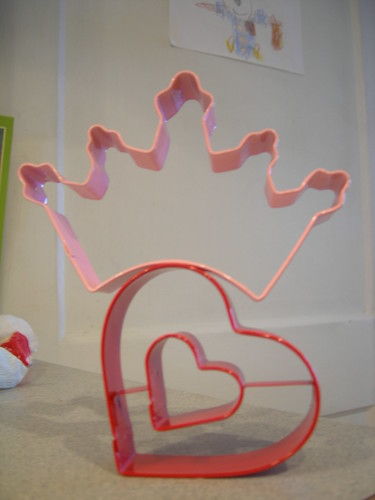 Cookie cutter sculpture for Valentine's Day