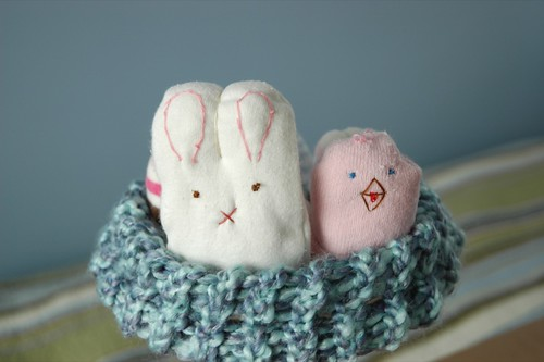 Recycle Baby Socks Into Bunnies, Chicks and Eggs!