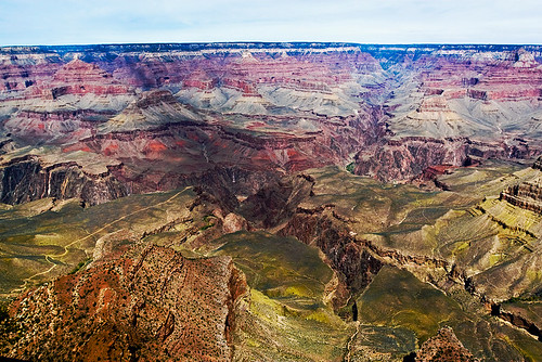 Part of the South Rim, taken from the first viewpoint we visited.