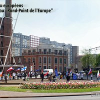 27 drapeaux au Rond-Point de l'Europe !