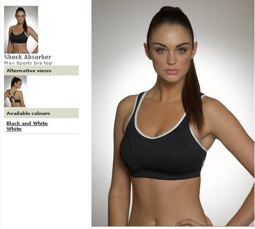 Model示範Shock Absorber Max Sports Bra Top