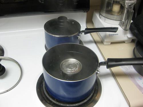 Boil condensed milk for 2+ hours