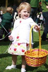 Claire at her first Easter egg hunt