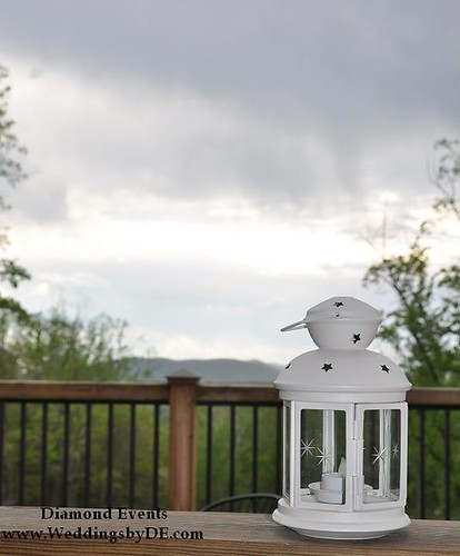 Lantern overlooking Roanoke mountains