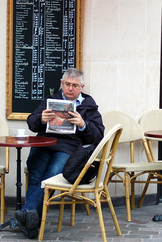 Cafe patron, Place D'Aligre, Paris