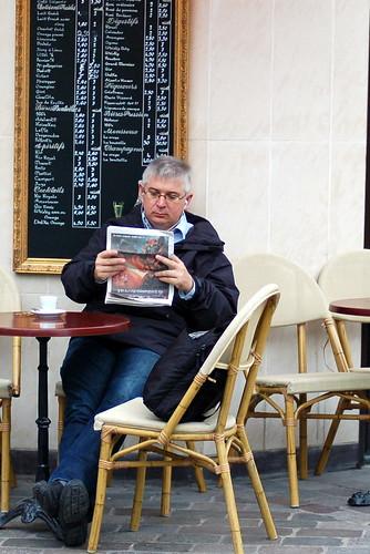 Cafe patron, Place D'Aligre, Paris