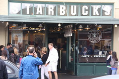 Old Starbucks, outside Pike Place Market