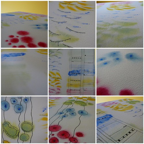 PS 4 watercolour grid