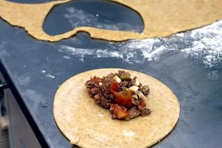 beef empanadas, in the making