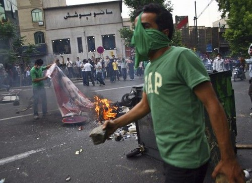 Tehran, shortly after the election results