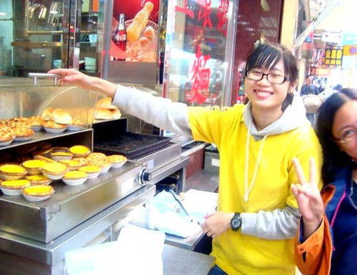 egg tart seller