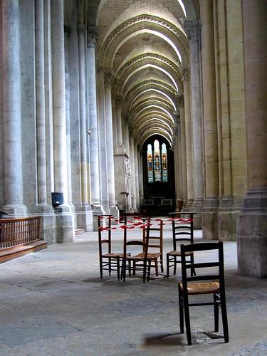 Church Chairs in the Cathédrale Saint-Maurice de Vienne.