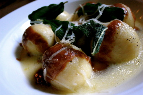 Sheep's Ricotta Gnudi with Brown Butter & Sage