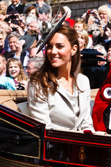 Kate Middleton and the Crowds at the Order of ...