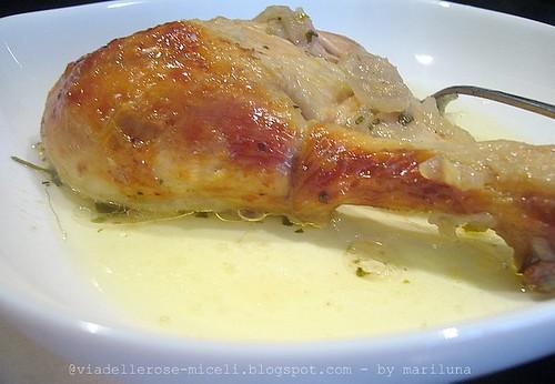 Pollo confit allo zenzero e coriandolo