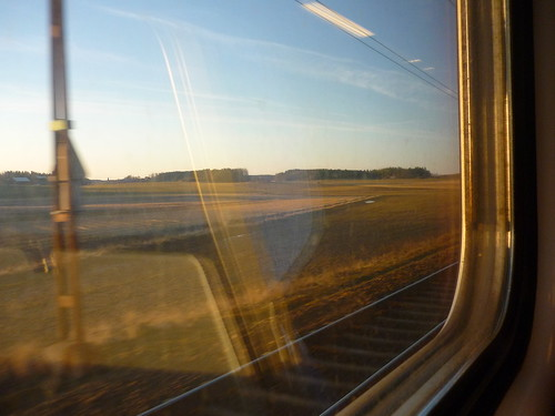 A view from a train in Sweden