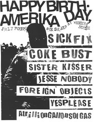 Coke Bust / Sick Fix, July 4th @ Whitney House