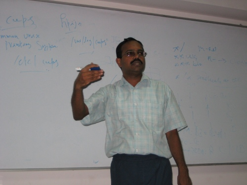 Raman speaking about CUPS configuration