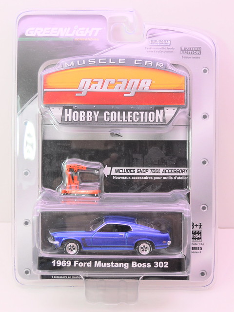 greenlight muscle car garage hobby edition 1969 ford mustang boss 302 (1)