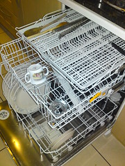 Miele dishwasher with magic extra tray