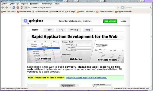 crea tus aplicaciones de base de datos