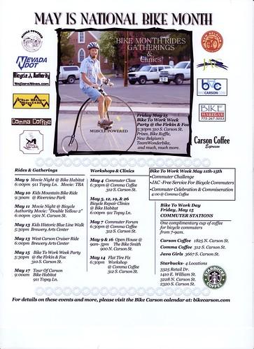 Bike Month Flyer '09