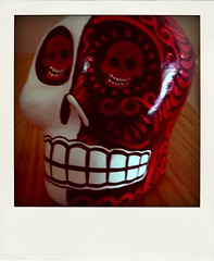 Red & White Calavera II 052409