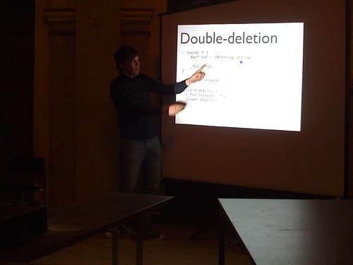 BarCamp, Teemu Kurppa presenting