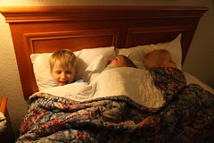 Kiddos in Bed