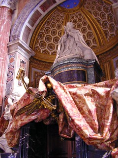 The tomb of Fabio Chigi, Pope Alexander VII