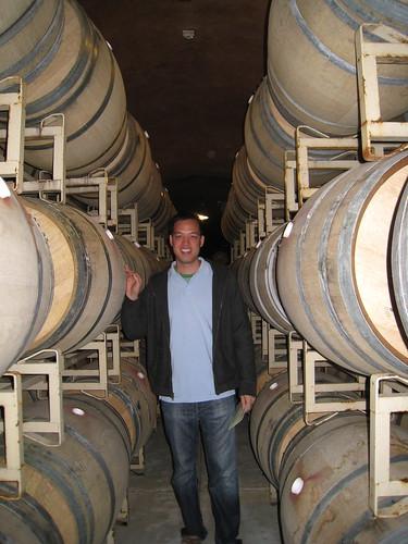 Oak Barrels in the Benziger Caves.  Each barrel costs $1,000!!!