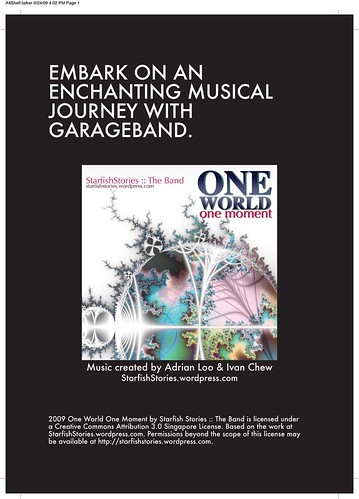 """One World One Moment"" A4 Shelf-talker"