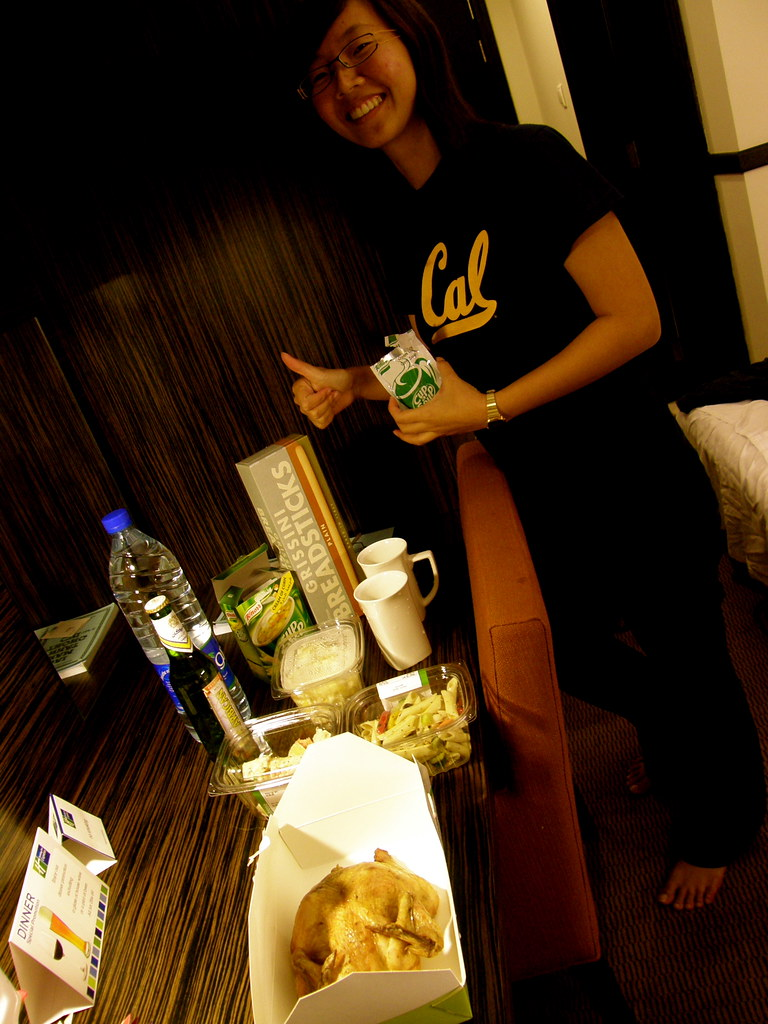 Potluck Dinner at our Hotel Room, Dubai
