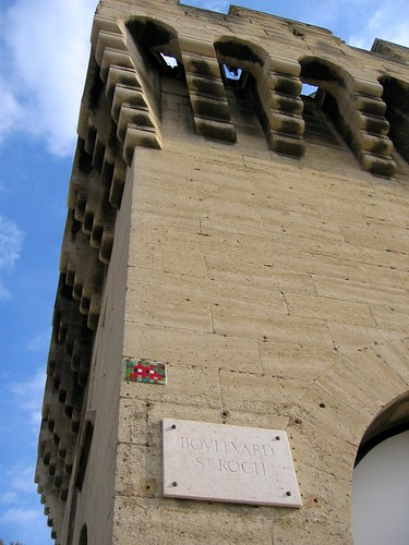 Space Invader on the city wall in Avignon.