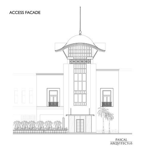 21 Nisha Bar Design - Access Facade