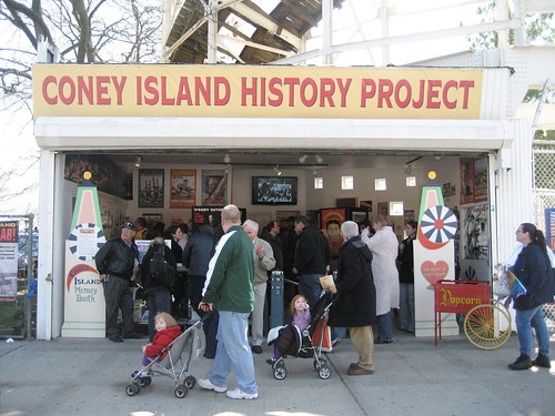 The Coney History Projects exhibition center is on Surf Ave under the Cyclone Roller Coaster. Photo © Coney Island History Project via flickr