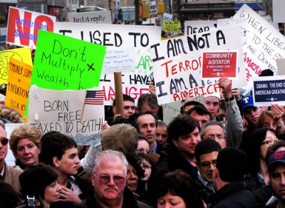 A tea party on Wall Street in Manhattan on April 15 this year - Photo: ajagendorf25/Flickr