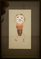 Clock-Faced Woman
