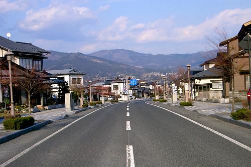 Una calle de Hiraizumi.