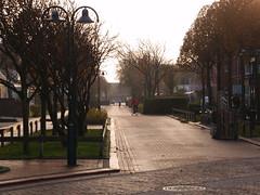 Langeoog - Hauptstrasse im Winter