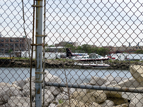 Seaplane lands on Newtown Creek 04 by you.