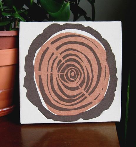 Log Slice- Original Screen Print