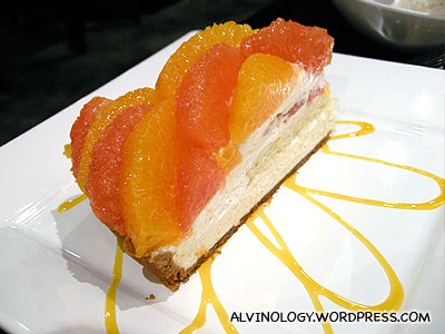 Our orange and grapefruit tart