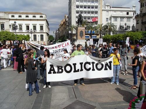 Manifiestación en Córdoba por la abolición de la tauromaquia.