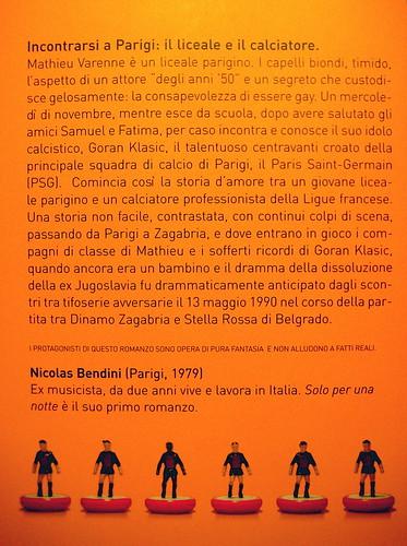 Nicolas Bendini, Solo per una notte, Traduzione di Giacomo Bocchi, Playground 2009, Graphic Designer e ill. di cop: Federico Borghi, (q. di cop: part.)