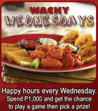 TGI Fridays Wacky Wednesdays