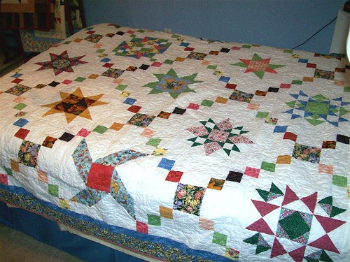 Mom's Family Star BOM quilt 1