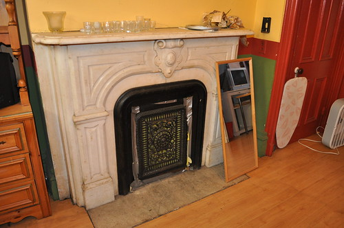 Fireplace, 1st floor, dining room