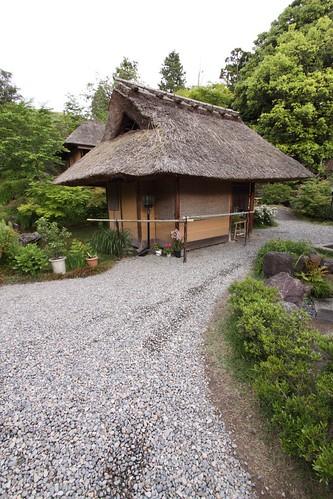 Hut along road